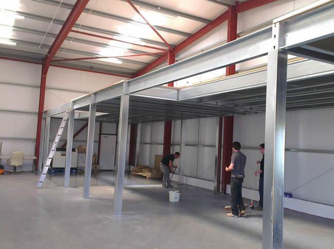 Mezzanine floors macro metal services for How to build a mezzanine